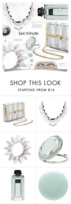 """""""gift"""" by meyli-meyli ❤ liked on Polyvore featuring Miss Selfridge, Gucci, Eve Snow and Sephora Collection"""