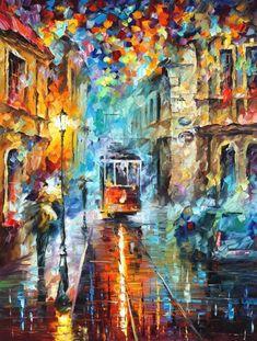 Leonid Afremov's Beautiful Paintings of Rainy Evenings - Neatorama