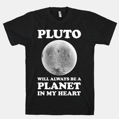 Showcase your love for Pluto and this summer's New Horizons mission there with this fun science lover's shirt