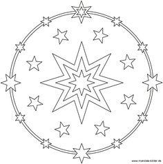 mandala - sterne | malvorlagen weihnachten, mandala