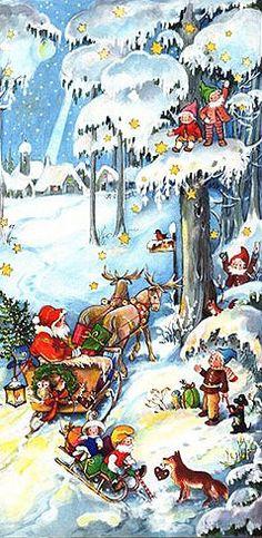 Santa's sleigh advent calendar ~ Germany