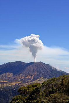 Turrialba Volcano Erupting in 2010