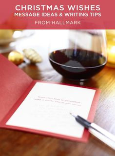 What to Write in a Christmas Card   Send very merry Christmas wishes with these message ideas from Hallmark writers. Includes more than 100 ideas, plus writing tips. #Hallmark #HallmarkIdeas #WhatToWriteInACard