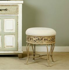 Picture Collection Website Details about Vanity Stool Chair Bathroom Furniture Make up Dressing Room Padded Chair Bronze Stool chair Vanity stool and Bathroom furniture