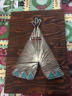 Teepee string art