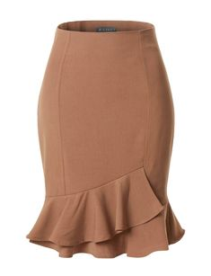 This fitted high waisted pencil midi skirt is a great staple item for business professional attire. Tuck your favorite blouse under this pencil skirt . Pencil Skirt Casual, Pencil Skirt Outfits, Pencil Skirts, Midi Skirts, Work Skirts, Cute Skirts, Pencil Skirt Tutorial, Business Professional Attire, Office Fashion Women