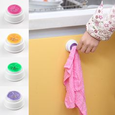 Hot 1 UNIDS paño clip de almacenamiento porta clips dishclout estante de almacenamiento de baño estante de la toalla de mano Caliente 2015