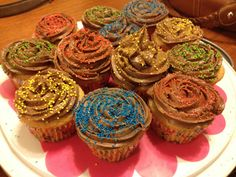 Gluten Free vanilla cakes with dairy free chocolate icing! Happy birthday Lesley!