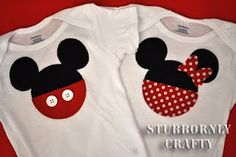Mickey and Minnie onesies - adorable!! t-shirts for our future disney trip!