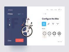 IF Mode foldable bike configuration website Ecommerce Web Design, Homepage Design, Web Ui Design, Best Web Design, Web Design Trends, Design Design, Mobile Ui Design, Bike Design, Website Layout