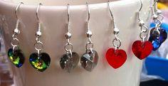Swarovski crystal heart earrings xx
