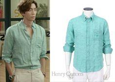 "Shin Sung-Rok 신성록 in ""Trot Lovers"" Episode 9.  Henry Cotton's AOFM43031GR Slim Fit Linen Shirt #Kdrama #TrotLovers 트로트의연인 #ShinSungRok"