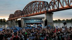 Democratic presidential candidate Bernie Sanders addresses the crowd Tuesday during a campaign rally at the Big Four Lawn park Louisville, Ky.