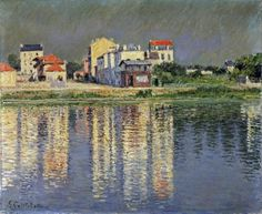 Banks of The Seine at Argenteuil by Impressionist Gustav Caillebotte
