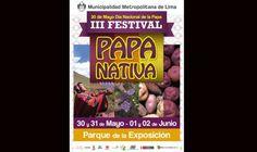 III festival de la Papa Nativa en el Parque de la Exposición.