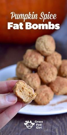 Pumpkin Spice Keto Fat Bomb Recipe- high in fat and low in carbohydrate - these fat bombs have lots of flavor from the ingredients and the recipe is low carb, ketogenic, gluten free, and paleo.
