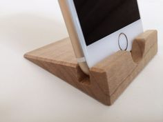 iPhone 6 Stand  Curly Maple  iPhone 6 Dock  Wood  Wooden