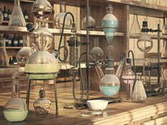 Chemical Laboratory Chemical laboratory on Behance Mad Science, Science Art, Mad Scientist Lab, Lab Instruments, Chemistry Labs, Lab Equipment, Grafik Design, Frankenstein, Alchemy