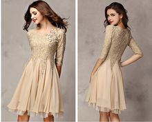 Livraison gratuite 2015 robe de soirée new moitié manches appliques robes de soirée robes de fiesta robe de soiree robe branco(China (Mainland))