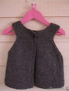 """Modèle gratuit de tricot : """"gilet mini fillette"""" - petite fille"""