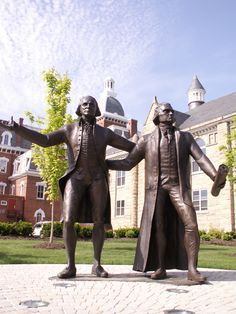 Everyone's favorite Founding Fathers on the corner of South Lincoln & Beau!