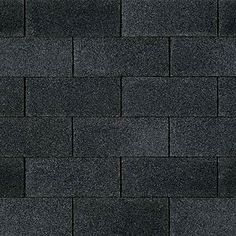 Canterbury Black Gaf Designer Roof Shingles Swatch
