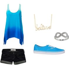 Blue Summer Day, created by eprichards on Polyvore