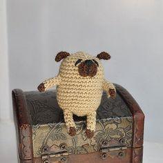 Miniature crochet pug Amigurumi pug Miniature by KristinaSHaSHop