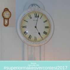 #superiormakeovercontest2017 Cottage chic makeover using Superior furniture appliques Cottage Chic, Spice Things Up, Appliques, Clock, Riveting, Watch, Wall Lamps, Embroidered Patch, Apps