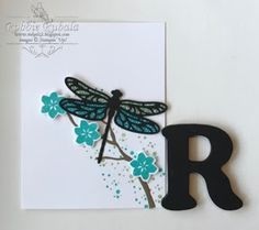 http://inkedx2.blogspot.com/2017/06/dragonfly-sprig.html    | Stampin' Up thinlits | Stampin' Up thinlits cards | Stampin' Up | Stampin' Up cards | card making ideas | papercrafts |   The dragonfly thinlit can be combined with other stamp sets to create a beautiful card.