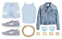 """""""Denim on Denim"""" by rqueen25 ❤ liked on Polyvore featuring Topshop, Miss Selfridge, H&M, New Balance, Michael Kors, Christian Dior and Maison Margiela"""