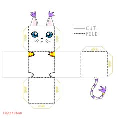 Gatomon Papercraft by CharrChan on DeviantArt Easy Pokemon, Pokemon Craft, Pokemon Party, Pokemon Birthday, Diy And Crafts, Crafts For Kids, Paper Crafts, Digimon, Papercraft Pokemon