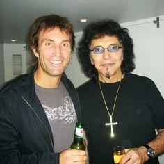 Rock god Tony Iommi and Pat Cash backstage.  #patcash #tonyiommi #blacksabbath #celebrity #rockmusic #tennis Pat Cash, Tony Iommi, Black Sabbath, Rock Music, Backstage, Tennis, Celebrity, God, Dios