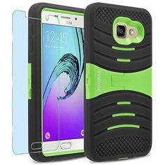 Samsung Galaxy A3 (2016) / A310F Case, Innovaa Turbulent Armor Case (Not Compatible with Samsung Galaxy A3 (2015) / A300) W/ Free Screen Protector & Touch Screen Stylus Pen - Green/Black