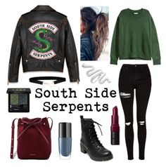 """Riverdale Serpent"" by svc-outfitters ❤ liked on Polyvore featuring Madden Girl, Gucci, Bobbi Brown Cosmetics, Mansur Gavriel, Topshop, H&M, Lancôme, serpents, southside and riverdale"