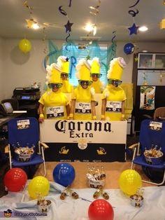 Corona 6 Pack Group Costume - Halloween Costume Contest via Best Friend Halloween Costumes, Halloween Costume Contest, Halloween Kostüm, Halloween Party Decor, Halloween Outfits, Homemade Halloween, Halloween Makeup, Easy Diy Costumes, Homemade Costumes