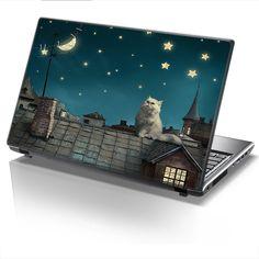 Laptop Cover NIGHT CAT by Sticky!!!