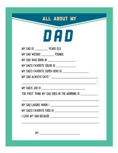 Persnickety Prints Blog: Free Fathers Day Printable