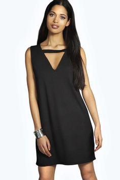 Zena Cut Out Detail Shift Dress alternative image