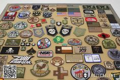 Post image for Running Out of Room for Your Morale Patches? Make a DIY Morale Patch Display Frame! Army Patches, Tactical Patches, Tactical Gear, Moral Patch, Custom Patches, Frame Display, Iron Decor, Displaying Collections, Diys