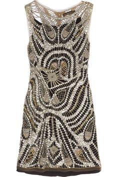 Kate Moss for Topshop Beaded mini dress NET-A-PORTER.COM