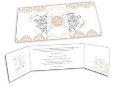 Exklusive Hochzeitseinladungskarte
