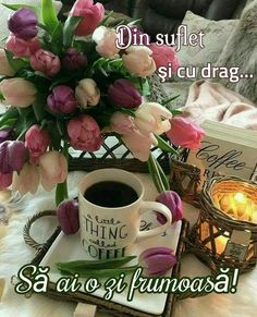 Beautiful Flowers Pictures, Flower Pictures, Good Morning Greetings, I Love Coffee, Coffee Drinks, Table Decorations, Tableware, Pictures, Bonjour