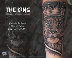 The King: The Real Royale Tattoo Concept! Amazing Details, The artwork done by Artist Dhaval! Visit Studio to Explore more about your Style, Suitable Tattoo concept, Customised art work! Quality Art work with Experience over 10years! #Aaryans #TeamAaryans #ahmedabad