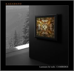 KAGADATO. Wall light - CAMBRIDGE. Designer wall lights. A variety of shapes and materials. Performed with wide application stained glass Tiffany technique. Use the rotary mechanisms, different levels of complexity. Backlight. Motion Timer.