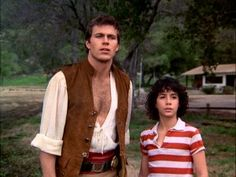 Phineas and Jeffrey in their inquisitive, natural state. You gotta wonder if the pirates suit and polo shirt ever get washed. 1980s Tv Shows, Old Tv Shows, Jennifer O'neill, Best Sci Fi Shows, Sherlock Cast, Heart Songs, Tv Land, Young Actors, Most Beautiful Man