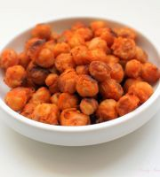 Buffalo Roasted Chickpeas. Just made these! They had to bake for about 50min for a good crunch, otherwise great!!!