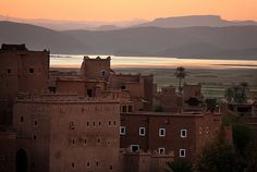sun is rising over kasbah - Ouarzazate, Morocco