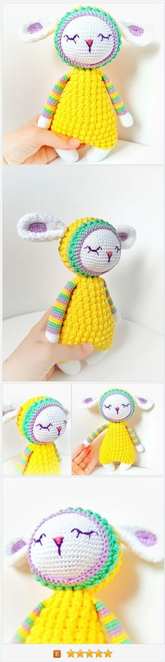 Sweet crochet sleepy sheep first toy lamb for sale - Click to own https://www.etsy.com/CuteKnitToys/listing/579093360/hand-knitted-sheep-crochet-lamb-first?ref=shop_home_active_4