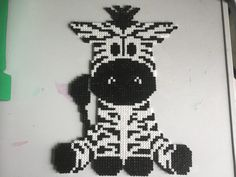 Zebra perler beads by mone1 - Pattern: https://de.pinterest.com/pin/374291419013031044/